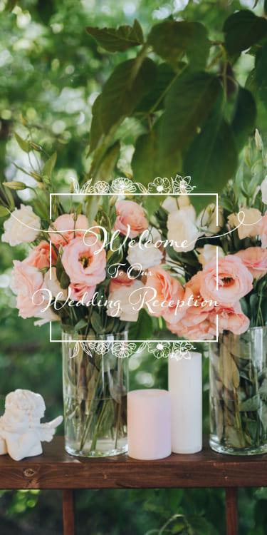 結婚式・披露宴・二次会のWeb招待状デザイン Flora -garden- フローラ